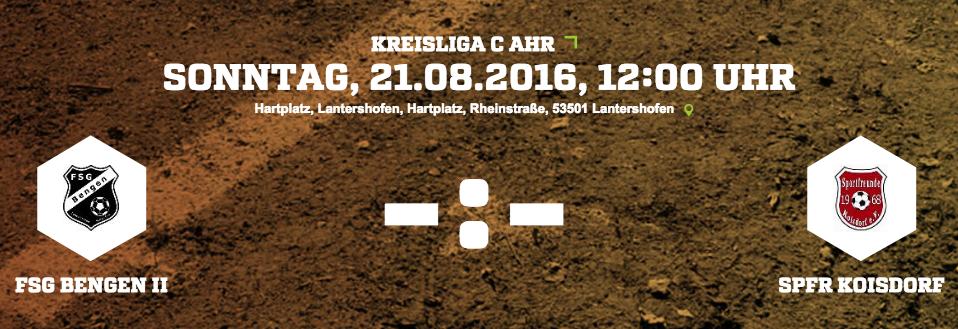 Erster Spieltag Kreisliga C 2016/17