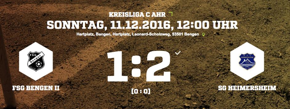 FSG Bengen II 17. Spieltag